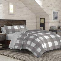 IZOD Buffalo Grey Plaid Comforter Set (Assorted Colors and Sizes)
