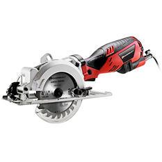 """Powerbuilt 4 1/2"""" Compact Circular Saw with 5.8 Amp Motor"""