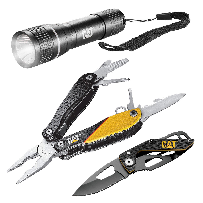 Caterpillar Cat Multi-Tool, Knife & Flashlight Set