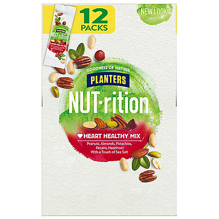 Planters NUT-rition Heart Healthy Nut Mix (1.5 oz. Pouches, 12 ct.)