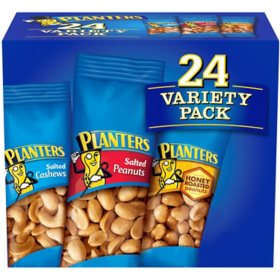 Planters Snack Nuts Variety Pack (1.75 oz. Pouches, 24 ct.)