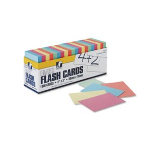 Pacon Blank Flash Card Dispenser Boxes, 2w x 3h, Assorted, 1000/Pack