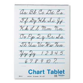 Pacon Cursive Cover Unruled Chart Tablet