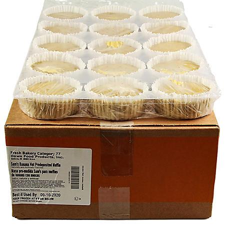 Banana Nut Muffins, Bulk Wholesale Case (60 ct.)