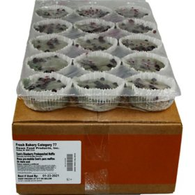 Blueberry Muffin Pre-Topped, Bulk Wholesale Case
