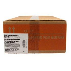 Pre-Topped Red Velvet Muffins, Bulk Wholesale Case (60 ct.)