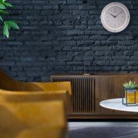 "Seiko 13"" Decor White and Glass Wall Clock"