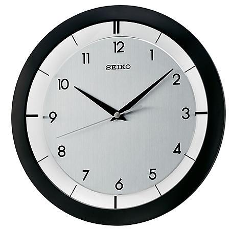 "Seiko 11"" Brushed Metal Wall Clock (Assorted Colors)"