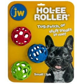 JW Hol-ee Roller Treat Toys, Small 3 pk. or Medium 2 pk. (Choose Your Size)