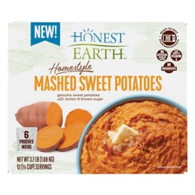 Honest Earth Homestyle Mashed Sweet Potatoes (9.9 oz., 6 pk.)