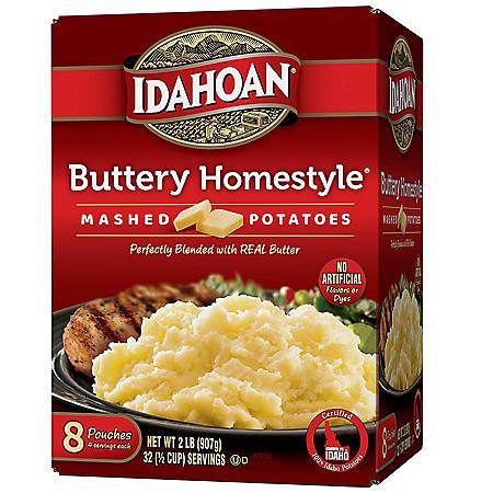 Idahoan Buttery Homestyle Mashed Potatoes (32 oz., 8 pk.)