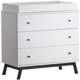 Little Seeds Rowan Valley Lark Urban 3-Drawer Changing Table, White