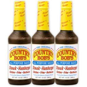 Country Bob's All Purpose Steak Sauce - 3/12.5 oz.