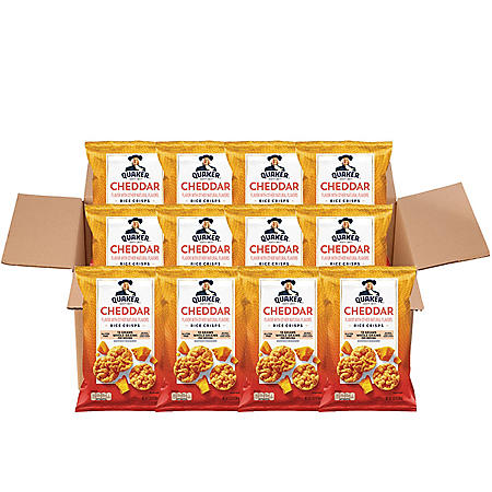 Quaker Popped Rice Crisp Snacks, Cheddar Cheese (3 oz., 12 ct.)