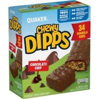 Quaker Chewy Dipps Granola Bars, Chocolate Chip (34 pk.)