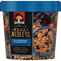 Quaker Real Medleys Instant Oatmeal Cups, Blueberry (2.46 oz., 12 ct.)