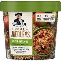 Quaker Real Medleys Instant Oatmeal Cups, Apple Walnut (2.64 oz., 12 ct.)