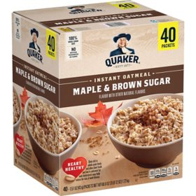 Quaker Instant Oatmeal, Maple Brown Sugar (40 pk.)