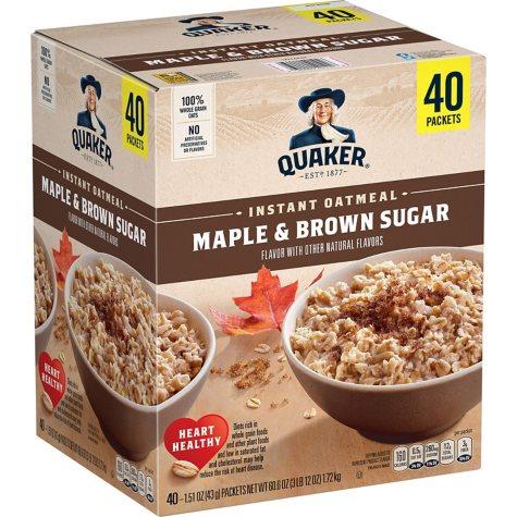 Quaker Instant Oatmeal, Maple Brown Sugar (40 ct.)