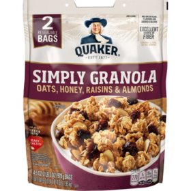 Quaker Simply Granola (34.5oz., 2 Resealable Bags.)