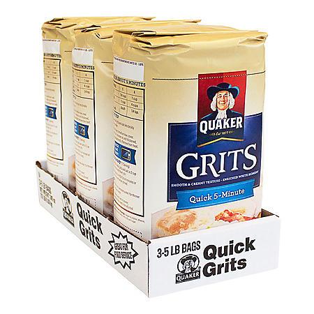 Quaker Quick 5-Minute Grits (5 lb., 3 pk.)
