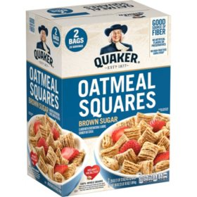 Quaker Oatmeal Squares, Brown Sugar (29 oz., 2 pk.)