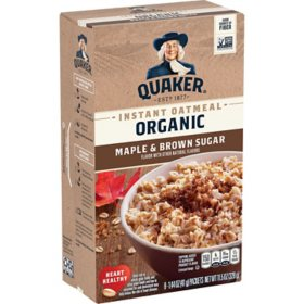 Quaker Organic Instant Oatmeal, Maple and Brown Sugar (48 ct.)