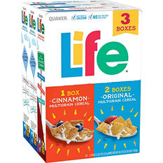 Quaker Life Cereal (18 oz., 3 pk.)