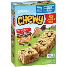 Quaker Chewy Granola Bars, Variety Pack (60 ct.)