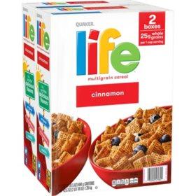 Quaker Life Multi-Grain Cereal, Cinnamon (42.6 oz., 2 pk.)