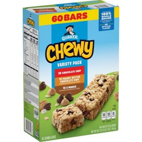 Quaker Camp Chewy Granola Bars Variety Pack (60 pk.)