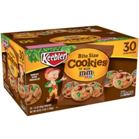 Keebler Bite Size M&M's Cookies (1.6 oz., 30 ct.)