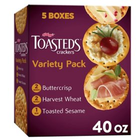 Keebler Toasteds Crackers Variety Pack (8 oz., 5 pk.)