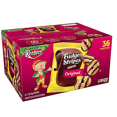 Keebler Fudge Stripes Cookies (2 oz., 36 ct.)