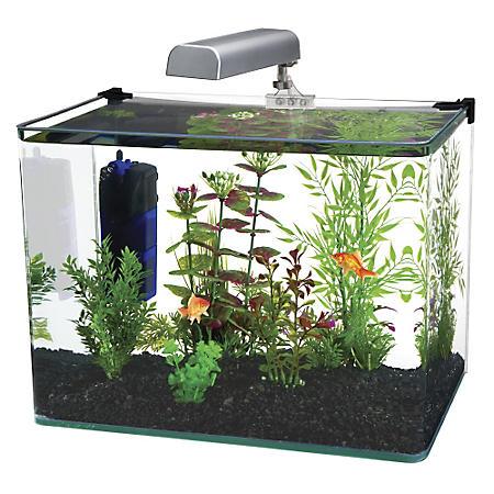 Penn Plax Water World Radius Aquarium Kit, 10-Gallon