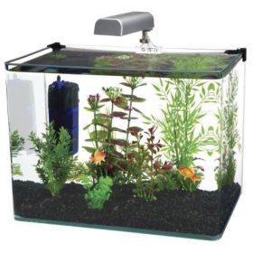 Penn Plax Water World Radius Aquarium Kit, 7.5-Gallon