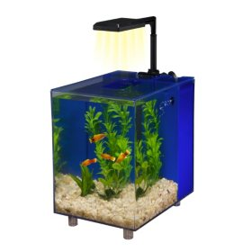 Penn Plax Prism Desktop Aquarium Kit, 2-Gallon (Blue)