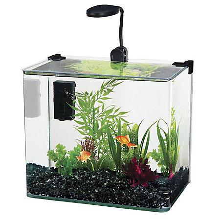Penn Plax Water World Radius Aquarium Kit, 3.4-Gallon