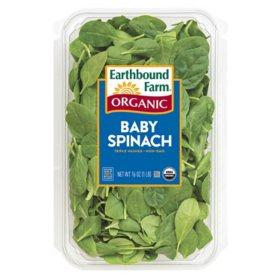Organic Baby Spinach (16 oz.)