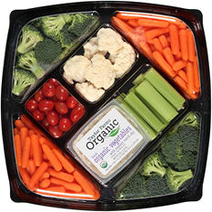 Taylor Farms Organic Fresh Vegetables with Ranch Dip (4 lb.)