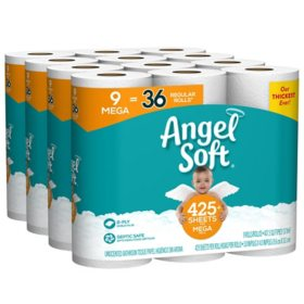 Angel Soft 2-Ply Toilet Paper (36 Mega Rolls, 429 Sheets/Roll)