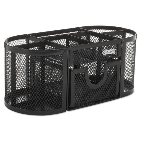Rolodex Mesh Oval Pencil Cup Organizer - Black