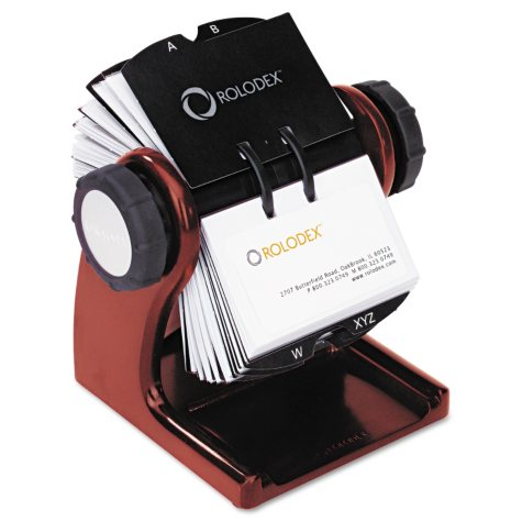 Rolodex Wood Tones Rotary Business Card Files