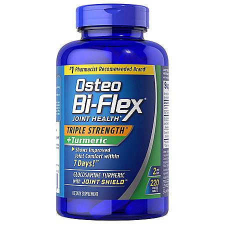 Osteo Bi-Flex Triple Strength + Turmeric (220 ct.)
