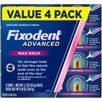 Fixodent Advanced Max Hold Denture Adhesive (2.2 oz., 4 pk.)