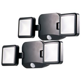Energizer Battery-Operated Motion Sensing LED Security Light, Dual Head - 500lm (2-Pack)