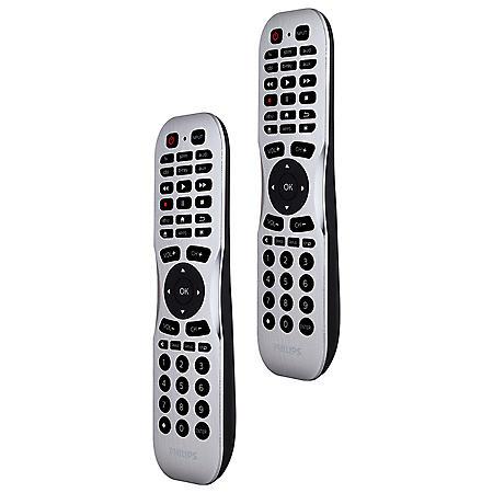 Philips 6-Device Smart Universal Remote Control, Bluetooth Programming, 2pk