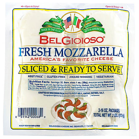 BelGioioso Pre-Sliced Fresh Mozzarella (32 oz.)