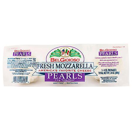 BelGioioso Fresh Mozzarella Cheese Pearls (8 oz. per pk., 3 pk.)