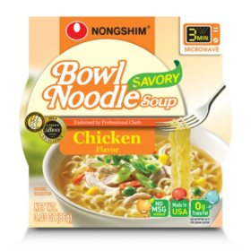 Nongshim Spicy Chicken Bowl Noodle Soup (3.03 oz, 18 ct.)